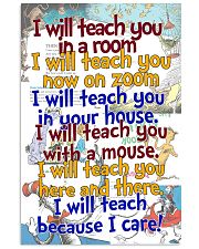 i will teach you 16x24 Poster front
