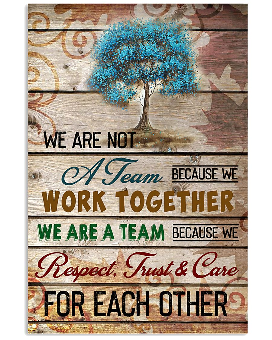 We are a team 11x17 Poster
