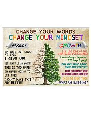 Change your mindset 17x11 Poster front