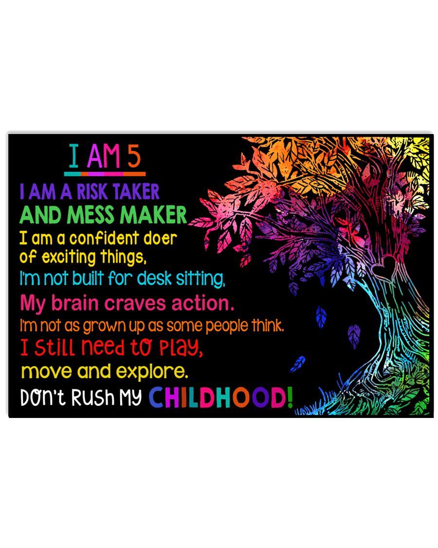 I am 5 24x16 Poster