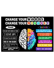 Change your mindset 24x16 Poster front