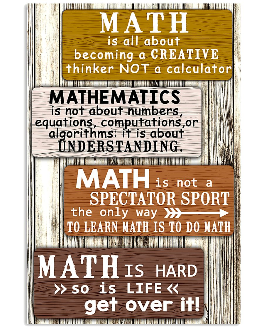 Math quotes 11x17 Poster