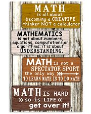 Math quotes 11x17 Poster front