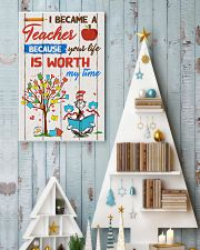 I became a teacher 11x17 Poster lifestyle-holiday-poster-2