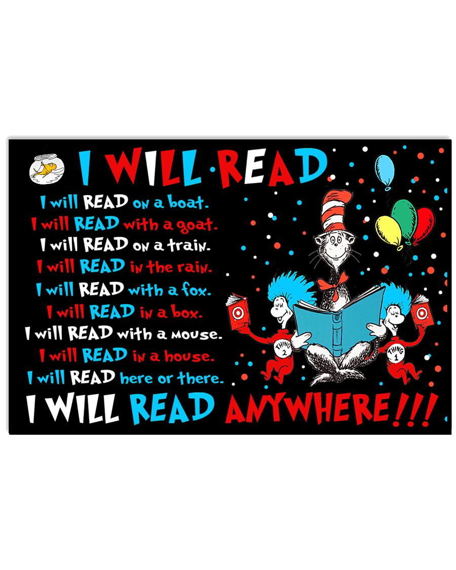 I will read anywhere 17x11 Poster