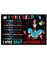 I will read anywhere 17x11 Poster front