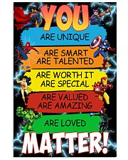 You are loved matter 16x24 Poster front