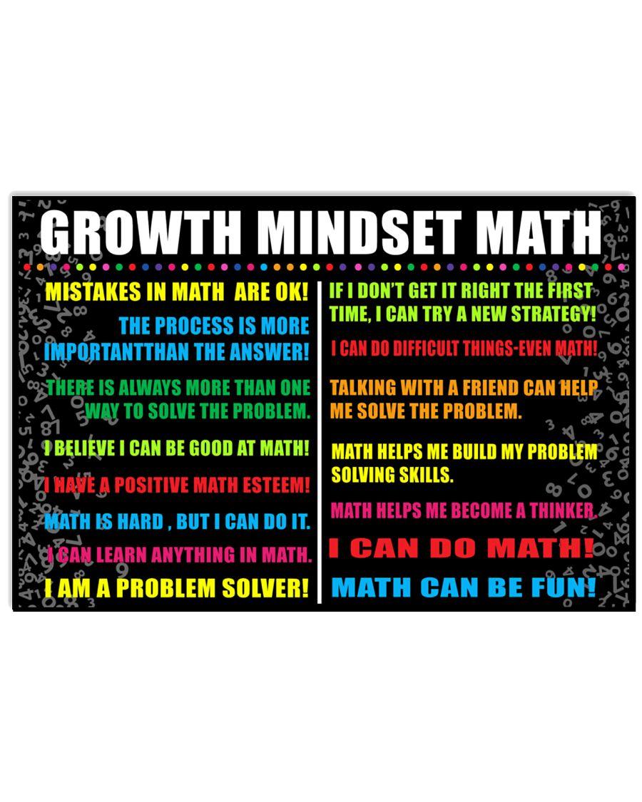 Growth mindset math 24x16 Poster