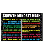 Growth mindset math 24x16 Poster front