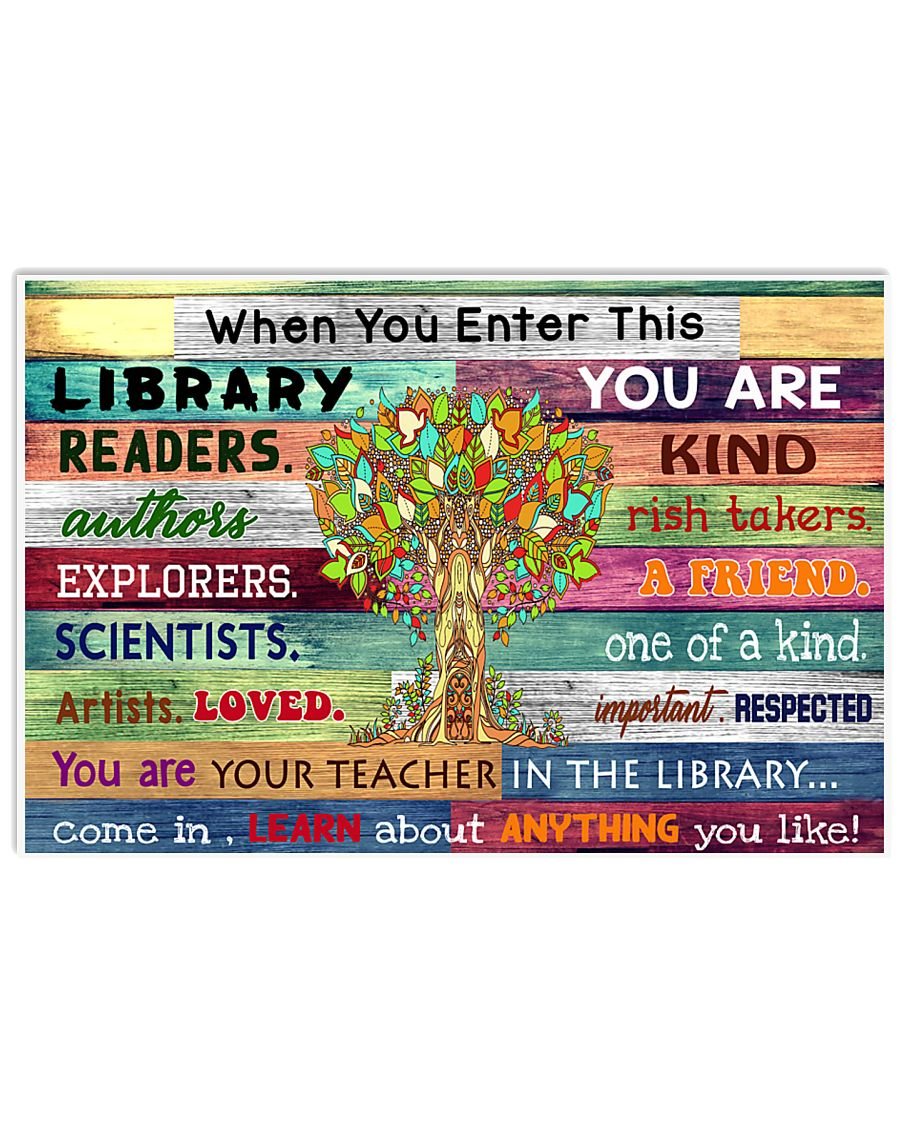 Enter this library 17x11 Poster