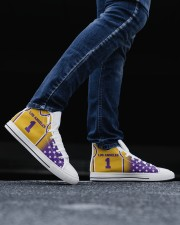 Los Angeles Basketball Customizable Men's High Top White Shoes aos-complex-men-white-top-shoes-lifestyle-01