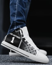 San Antonio Basketball Customizable Men's High Top White Shoes aos-complex-men-white-top-shoes-lifestyle-02