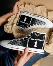 San Antonio Basketball Customizable Men's High Top White Shoes aos-complex-men-white-top-shoes-lifestyle-10
