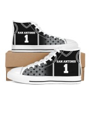 San Antonio Basketball Customizable Men's High Top White Shoes inside-right-outside-right
