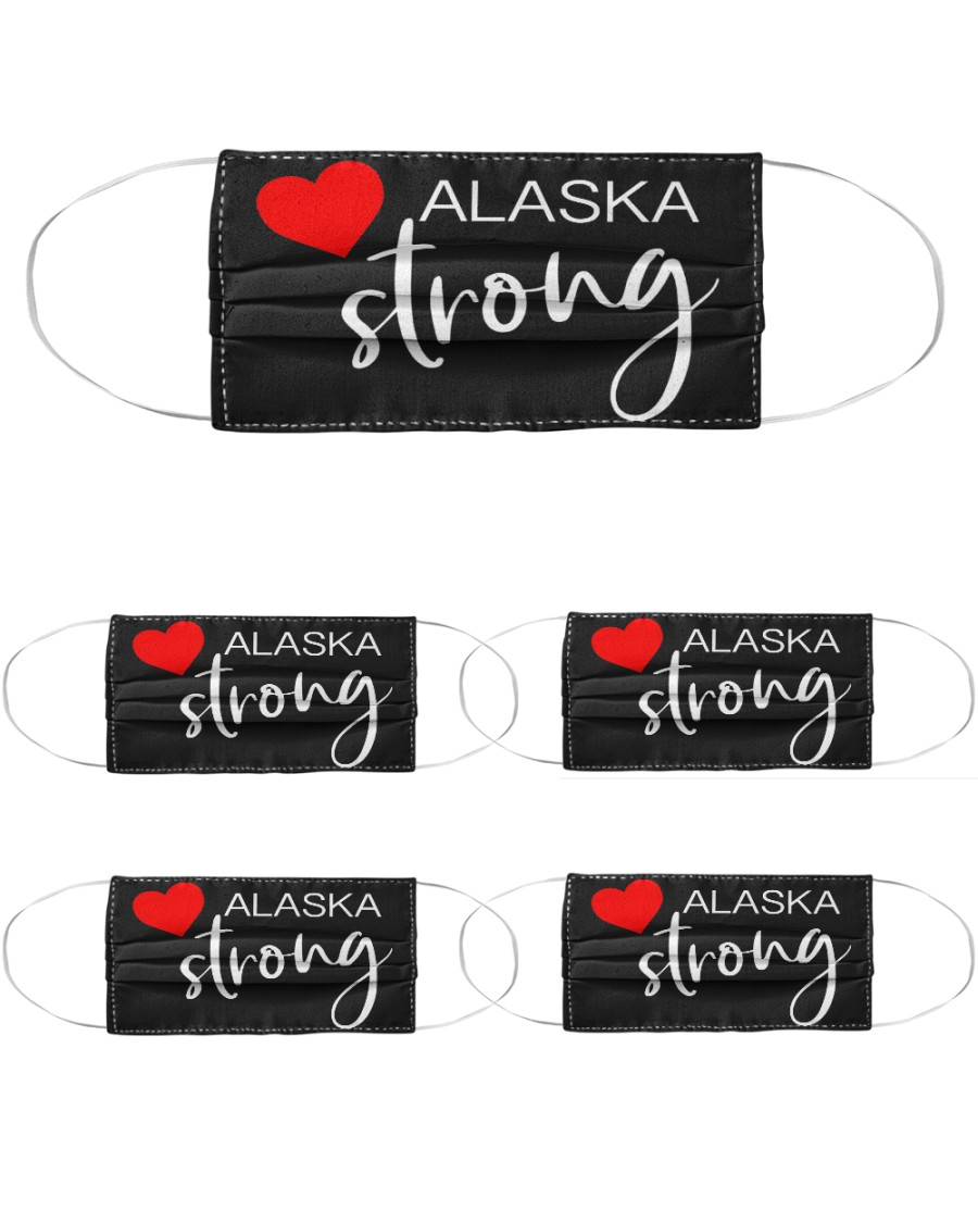 Alaska Strong Washable Reusable Fabric Cloth Face Mask - 5 Pack