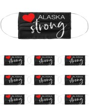 Alaska Strong Washable Reusable Fabric Cloth Face Mask - 10 Pack front
