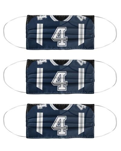 3 Pack - Dak Prescott Washable Reusable Fabric
