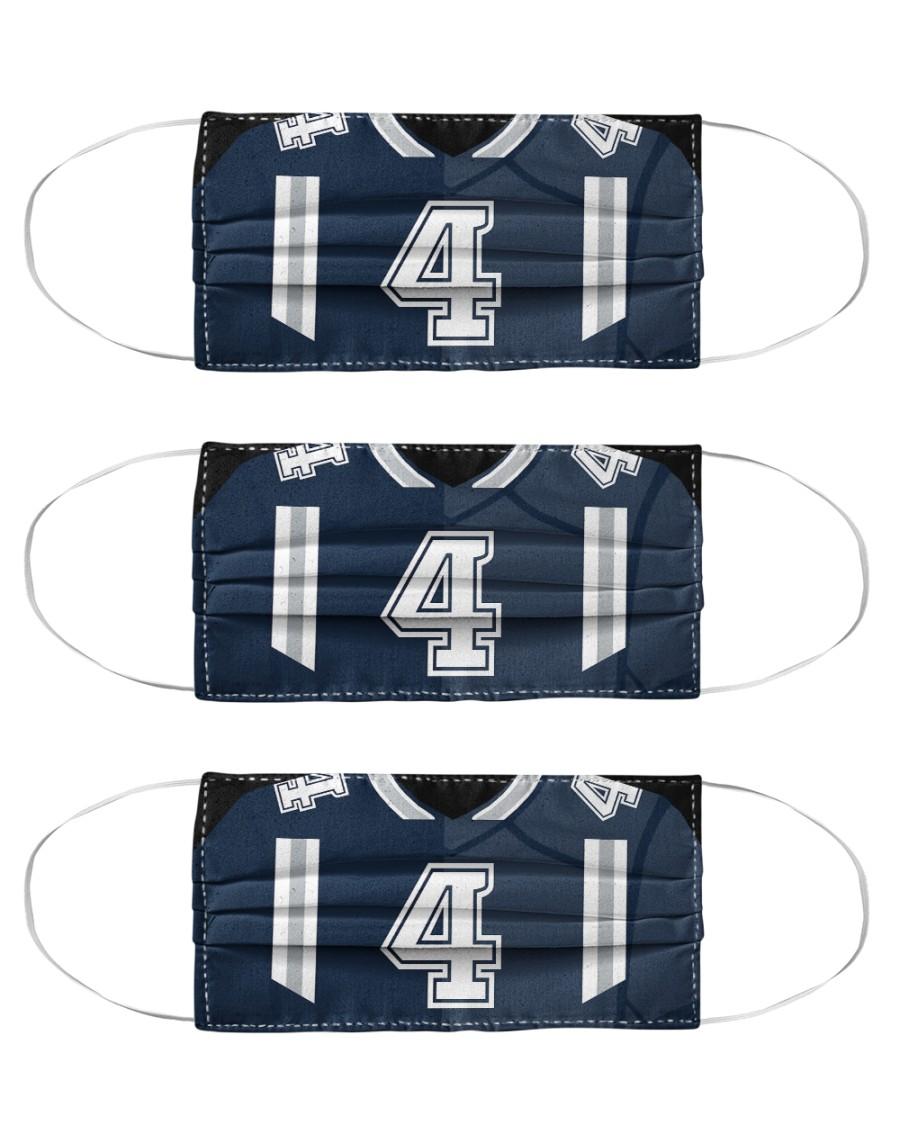 3 Pack - Dak Prescott Washable Reusable Fabric Cloth Face Mask - 3 Pack