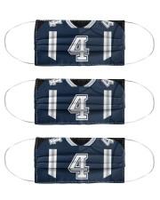 3 Pack - Dak Prescott Washable Reusable Fabric Cloth Face Mask - 3 Pack front