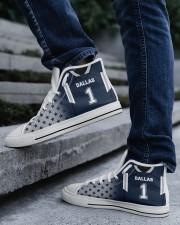 Dallas Football Customizable Men's High Top White Shoes aos-complex-men-white-top-shoes-lifestyle-05