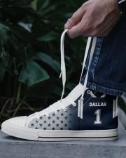Dallas Football Customizable Men's High Top White Shoes aos-complex-men-white-top-shoes-lifestyle-06