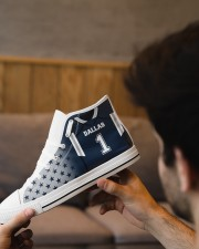 Dallas Football Customizable Men's High Top White Shoes aos-complex-men-white-top-shoes-lifestyle-09