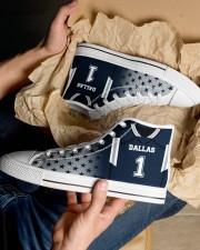 Dallas Football Customizable Men's High Top White Shoes aos-complex-men-white-top-shoes-lifestyle-10