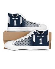 Dallas Football Customizable Men's High Top White Shoes inside-left-outside-left