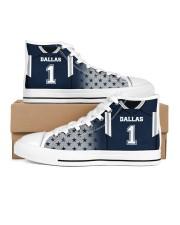 Dallas Football Customizable Women's High Top White Shoes thumbnail