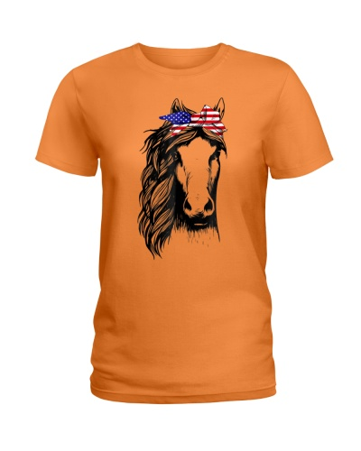 Horse Bandana US Flag TShirt