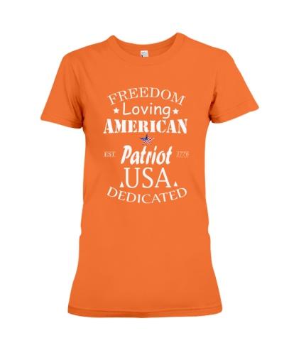 FREEDOM LOVING AMERICAN PATRIOT T SHIRT