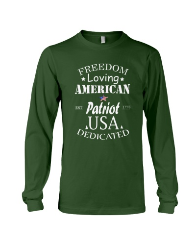 FREEDOM LOVING AMERICAN PATRIOT T SHIRT