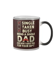 Single Taken Busy Dad T Shirt Color Changing Mug tile
