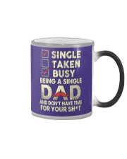 Single Taken Busy Dad T Shirt Color Changing Mug color-changing-right