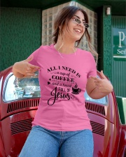 All I need is a cup of coffee and jesus Ladies T-Shirt apparel-ladies-t-shirt-lifestyle-01