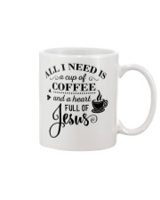All I need is a cup of coffee and jesus Mug thumbnail