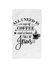 All I need is a cup of coffee and jesus Hand Towel thumbnail