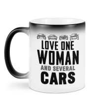 One Woman and Several Cars Color Changing Mug back