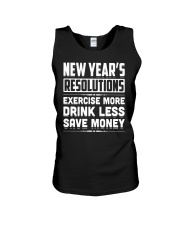 New Years Resolutions Funny 2018 Resolution Holida Unisex Tank thumbnail