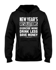 New Years Resolutions Funny 2018 Resolution Holida Hooded Sweatshirt thumbnail