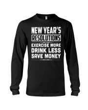 New Years Resolutions Funny 2018 Resolution Holida Long Sleeve Tee thumbnail