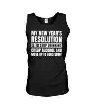 My New Years Resolution Is To Stop Drinking Alcoho Unisex Tank thumbnail