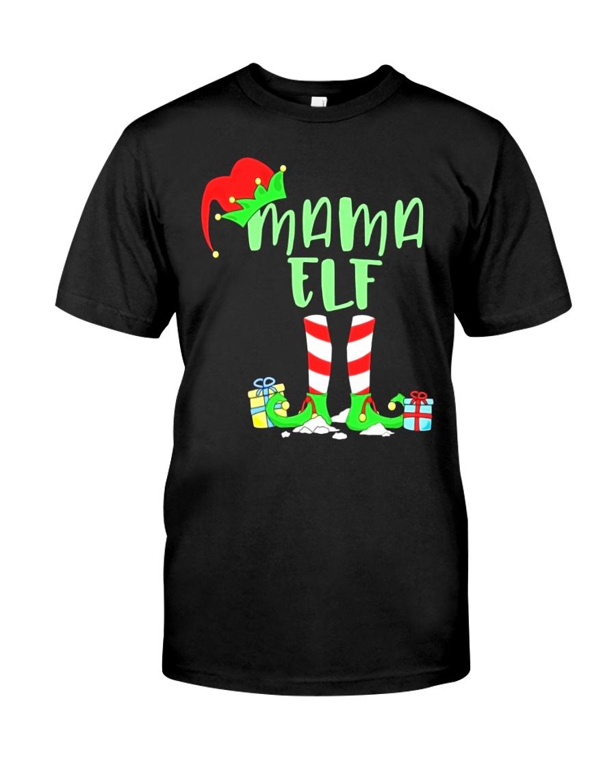 Mama Elf Shirt- Elf Family Shirts- Elf Christmas S Classic T-Shirt