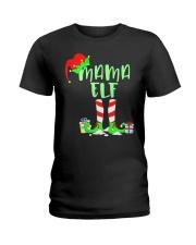 Mama Elf Shirt- Elf Family Shirts- Elf Christmas S Ladies T-Shirt thumbnail