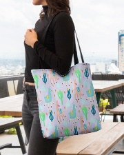 Alpaca  wonderland All-over Tote aos-all-over-tote-lifestyle-front-04