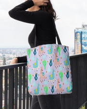 Alpaca  wonderland All-over Tote aos-all-over-tote-lifestyle-front-05