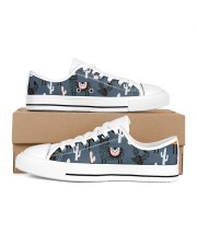 lLAMA NIGHTMARE Women's Low Top White Shoes tile