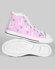 pinky alpaca Women's High Top White Shoes aos-women-high-top-shoes-ghosted-white-outside-right-01