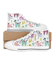lLAMA FESTIVAL Women's High Top White Shoes tile
