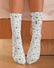Alpaca Garden Crew Length Socks aos-accessory-crew-length-socks-lifestyle-front-02